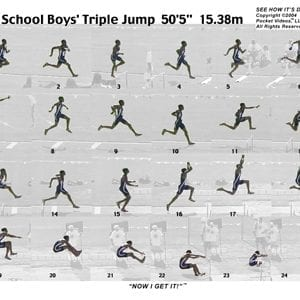 Boys Triple Jump Sequence Sheet