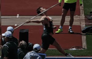 Thomas Rohler Javelin Gold Medalist Hip Drive Final Position
